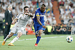 Real Madrid's Daniel Carvajal (l) and Juventus' Arturo Vidal during Champions League 2014/2015 Semi-finals 2nd leg match.May 13,2015. (ALTERPHOTOS/Acero)