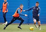 03.05.2019 Rangers training: Ryan Kent and Graham Dorrans