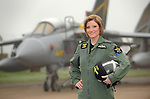 Female tornado pilot Jules Fleming at RAF Marham in Norfolk.