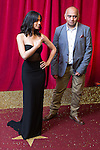 © Licensed to London News Pictures . 16/05/2015 .  The Palace Hotel , Manchester , UK . Fiona Wade and Bhasker Patel . The red carpet at the 2015 British Soap Awards , The Palace Hotel , Oxford Road , Manchester . Photo credit : Joel Goodman/LNP