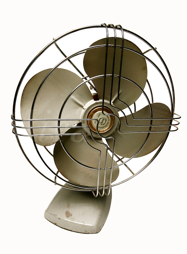 Retro electric fan made by Knapp Monarch, Jack Frost model that has been clipped