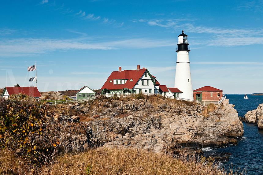 Portland Head Light Station, Cape Elizabeth, Maine, USA. Est. 1791