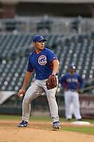 James Norwood of the AZL Cubs pitches against the AZL Rangers at Surprise Stadium on July 6, 2014 in Surprise, Arizona. AZL Rangers defeated the AZL Cubs, 7-5. (Larry Goren/Four Seam Images)