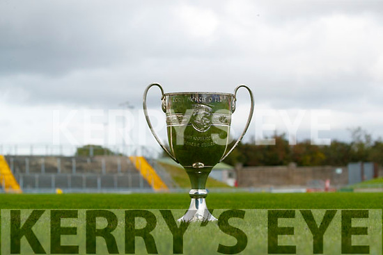 The Neilus Flynn Cup ahead of the Kerry county Senior Hurling championship final.