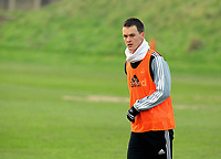 FAO SPORTS PICTURE DESK<br /> Pictured: Chelsea loan Josh McEachran. Tuesday 17 January 2012<br /> Re: Premier League side Swansea City Football Club training in Llandarcy, south Wales.