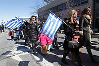 Justin Trudeau et Denis Coderre au Defile Grec, 3 mars 2014<br /> <br /> <br /> PHOTO : Agence Quebec Presse