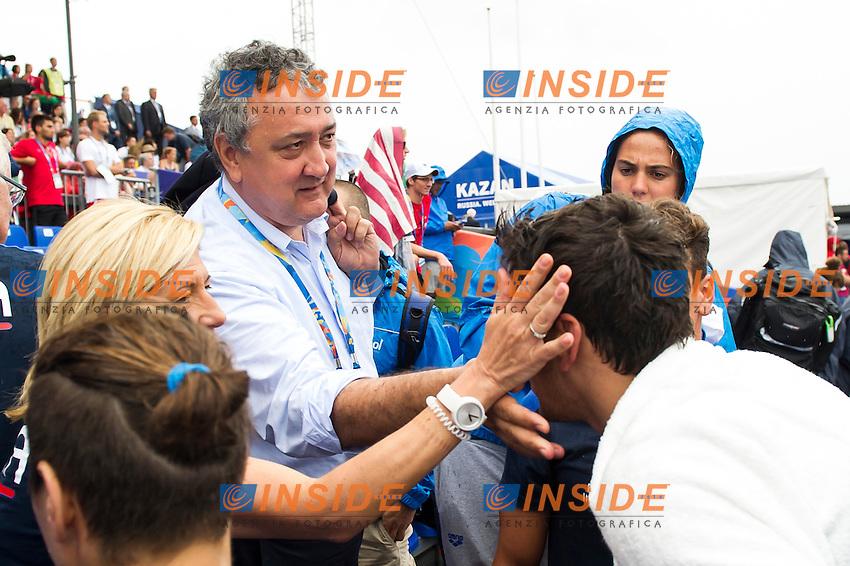 FURLAN Matteo ITA bronze medal <br /> Open Water - Men's  25km <br /> Day 09 01/08/2015<br /> XVI FINA World Championships Aquatics Swimming<br /> Kazan Tatarstan RUS July 24 - Aug. 9 2015 <br /> Photo Giorgio Perottino/Deepbluemedia/Insidefoto