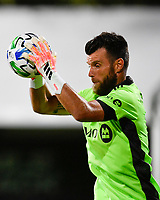 LAKE BUENA VISTA, FL - JULY 26: Quentin Westberg of Toronto FC makes a save during a game between New York City FC and Toronto FC at ESPN Wide World of Sports on July 26, 2020 in Lake Buena Vista, Florida.