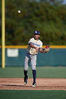 Marcus Smith (57), from New York, New York, while playing for the Brewers during the Baseball Factory Pirate City Christmas Camp & Tournament on December 28, 2017 at Pirate City in Bradenton, Florida.  (Mike Janes/Four Seam Images)
