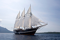 Paradise Dancer, luxury liveaboard sailing North Sulawesi, Indonesia, Pacific Ocean