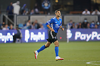 SAN JOSE, CA - AUGUST 17: Chris Wondolowski #8 of the San Jose Earthquakes during a game between Minnesota United FC and San Jose Earthquakes at PayPal Park on August 17, 2021 in San Jose, California.