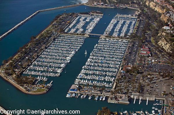 aerial photograph of of Dana Point Harbor, Orange County, California