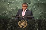 Timor-Leste<br /> H.E. Mr. Rui Maria de Araújo<br /> Prime Minister<br /> <br /> General Assembly Seventy-first session 20th plenary meeting<br /> <br /> General Debate
