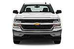 Car photography straight front view of a 2016 Chevrolet Silverado 1500 LS 4 Door Pickup Front View