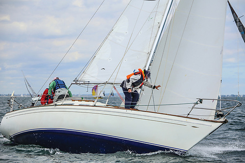 A fleet of eight Shipmans contested the 2021 Nationals at the DMYC