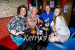 Enjoying the evening in Christy's Bar in Listowel on Thursday, l to r: Ann Moloney (Listowel), Norella Moriarty (Listowel), Jerry Flynn (Listowel) and Claire Moloney (Listowel).