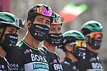 Peter Sagan (SVK) and Bora-Hansgrohe at sign on before the start of Stage 10 of the 103rd edition of the Giro d'Italia 2020 running 177km from Lanciano to Tortoreto, Italy. 13th October 2020.  <br /> Picture: LaPresse/Massimo Paolone | Cyclefile<br /> <br /> All photos usage must carry mandatory copyright credit (© Cyclefile | LaPresse/Massimo Paolone)