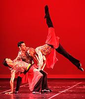 CALI - COLOMBIA- 03-06-2013: Presentacion del Ballet Nacional Dominicano en el teatro Municipal de Cali en el séptimo  Festival Internacional de Ballet, junio 3 de 2013. Fundado en 1981, desde entonces reúne a lo mejor de la danza clásica  e interpretativa  en República Dominicana. Nace de la fusión de los bailarines profesionales egresados en aquel entonces  de las   dos mejores escuelas del país. Desde su creación ha recibido a más de 50 profesores, bailarines y coreógrafos internacionales  afianzando los vínculos culturales con otros países. ( Foto: VizzorImage / Juan C. Quintero / Str.).  Presentation of the Dominican National Ballet at the Theatre Municipal de Cali in the seventh International Ballet Festival, June 3, 2013. Founded in 1981, since then brings together the best of classical dance and interpretive in Dominican Republic. Born from the fusion of professional dancers graduates at the time of the two best schools in the country. Since its creation it has received more than 50 teachers, dancers and choreographers strengthening international cultural links with other countries. (Photo: VizzorImage / John C. Quintero / Str)