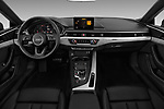 Stock photo of straight dashboard view of 2018 Audi A5 Sportback Premium Plus  5 Door Hatchback