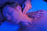 hands massaging patient