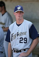 Nathan Culp of the Fort Wayne Wizards during the Midwest League All-Star game.  Photo by:  Mike Janes/Four Seam Images