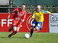 GULLEGEM - HALLE :<br /> Aron Defevere (L) snelt voorbij Thomas Van Ophalvens (R)<br /> <br /> Foto VDB / Bart Vandenbroucke