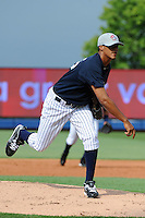 Staten Island Yankees pitcher Bryant Cotton (55) during first team workout at Richmond County Bank Ballpark at St. George in Staten Island, NY June 15, 2010.  Photo By Tomasso DeRosa/ Four Seam Images