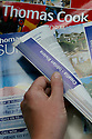Undated file Photo showing  Thomas Cook holday brochures.<br />