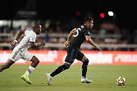 SAN JOSE, CA - SEPTEMBER 25: Andres Rios #25 of the San Jose Earthquakes during a Major League Soccer (MLS) match between the San Jose Earthquakes and the Philadelphia Union on September 25, 2019 at Avaya Stadium in San Jose, California.