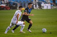 SAN JOSE, CA - SEPTEMBER 13: Cristian Espinoza #10 of the San Jose Earthquakes during a game between Los Angeles Galaxy and San Jose Earthquakes at Earthquakes Stadium on September 13, 2020 in San Jose, California.