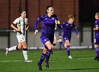 Anderlecht defender Laura De Neve (8) pictured during a female soccer game between Sporting Charleroi and RSC Anderlecht on the third matchday of the 2020 - 2021 season of Belgian Scooore Womens Super League , friday 2 nd of October 2020  in Marcinelle , Belgium . PHOTO SPORTPIX.BE | SPP | DAVID CATRY
