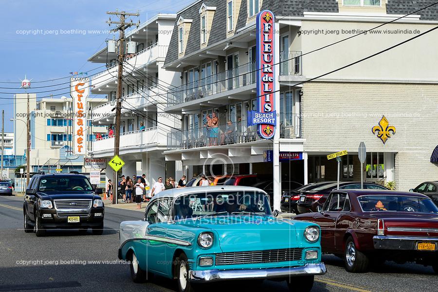 USA, New Jersey, Wildwood, parade of classic cars