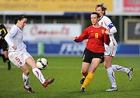 Belgium - Czech Republic :  duel tussen 5 Veronika Pincova (links) en Marjorie De Rammelaere.foto DAVID CATRY / Vrouwenteam.be
