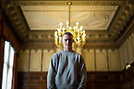 © Joel Goodman - 07973 332324 . 25/04/2015 . Manchester , UK . Men's hopeful , Coden Marshall (20 from Salford) . Rehearsals for hopefuls of this year's Mr and Miss Manchester pageant , at the Palace Hotel , Manchester . Photo credit : Joel Goodman