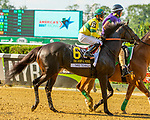 JULY 04, 2021: Three Technique in post parade for John A. Nerud Stakes, going 7 furlongs, at Belmont Park in Elmont, New York. Sue Kawczynski/Eclipse Sportswire/CSM