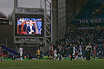 Blackburn Rovers 2 Aston Villa 0, 21/11/2010. Ewood Park, Premier League. The electronic scoreboard showing two-goal midfielder Morten Gamst Pedersen who was the man-of-the-match as the match between Blackburn Rovers and Aston Villa in the Barclays Premier League at Ewood Park draws to a close. Blackburn won the match by two goals to nil watched by a crowd of 21,848. It was Rovers' first match under the ownership of Indian company Venky's. Photo by Colin McPherson.