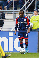 25 OCTOBER 2009:  Sainey Nyassi of the New England Revolution (31)  during the New England Revolution at Columbus Crew MLS game in Columbus, Ohio on October 25, 2009.