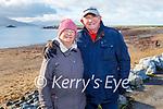 Jacinta and Richard Boylan enjoying the day on Fenit beach on New Years Day.