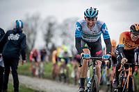 Nils Politt (DEU/Israel StartUp Nation) up the Oude Kwaremont<br /> <br /> 72nd Kuurne-Brussel-Kuurne 2020 (1.Pro)<br /> Kuurne to Kuurne (BEL): 201km<br /> <br /> ©kramon