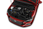 Car Stock 2017 Hyundai Elantra Sport 4 Door Sedan Engine  high angle detail view