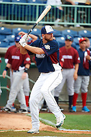 Vermont Lake Monsters outfielder John Wooten #17 during the home run derby before the NY-Penn League All-Star Game at Eastwood Field on August 14, 2012 in Niles, Ohio.  National League defeated the American League 8-1.  (Mike Janes/Four Seam Images)