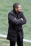 Atletico de Madrid's coach Diego Pablo Cholo Simeone during La Liga match.March 21,2015. (ALTERPHOTOS/Acero)