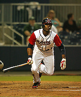 September 9, 2009:  Right Fielder Jason Heyward of the Gwinnett Braves in action during a game at Coolray Field in Buford, GA.  The Gwinnett Braves are the Triple-A International League affiliate of the Atlanta Braves.  Photo By David Stoner /Four Seam Images