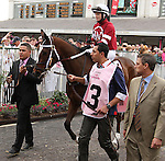 May 2, 2014: Untapable with Rosie Napravnik wins the 140th running of the $1,000,000 Grade 1 Longines Kentucky Oaks, 3-year old fillies, going 1 1/8 at Churchill Downs. Trainer: Steve Asmussen. Owner: Winchell Thoroughbreds LLC. Sue Kawczynski/ESW/CSM
