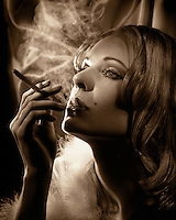 Starlet smoking ciggarette
