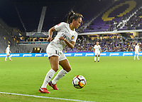 Orlando, FL - Saturday March 24, 2018: Utah Royals midfielder Taylor Lytle (12) settles the ball during a regular season National Women's Soccer League (NWSL) match between the Orlando Pride and the Utah Royals FC at Orlando City Stadium. The game ended in a 1-1 draw.