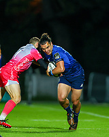 2nd October 2020; RDS Arena, Dublin, Leinster, Ireland; Guinness Pro 14 Rugby, Leinster versus Dragons; James Lowe (Leinster) attempts to hold off a tackle from Jonah Holmes (Dragons)