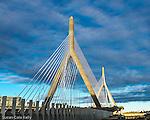 The Leonard P. Zakim Bunker Hill Bridge, Boston, Massachusetts, USA