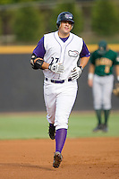 Seth Loman #27 of the Winston-Salem Dash rounds the bases after hitting a home run against the Lynchburg Hillcats at Wake Forest Baseball Stadium August 30, 2009 in Winston-Salem, North Carolina. (Photo by Brian Westerholt / Four Seam Images)