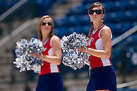 "Members of the ""Braves Brigade"" entertain fans before the start of the South Atlantic League game between the Greenville Drive and the Rome Braves at State Mutual Stadium July 25, 2010, in Rome, Georgia.  Photo by Brian Westerholt / Four Seam Images"